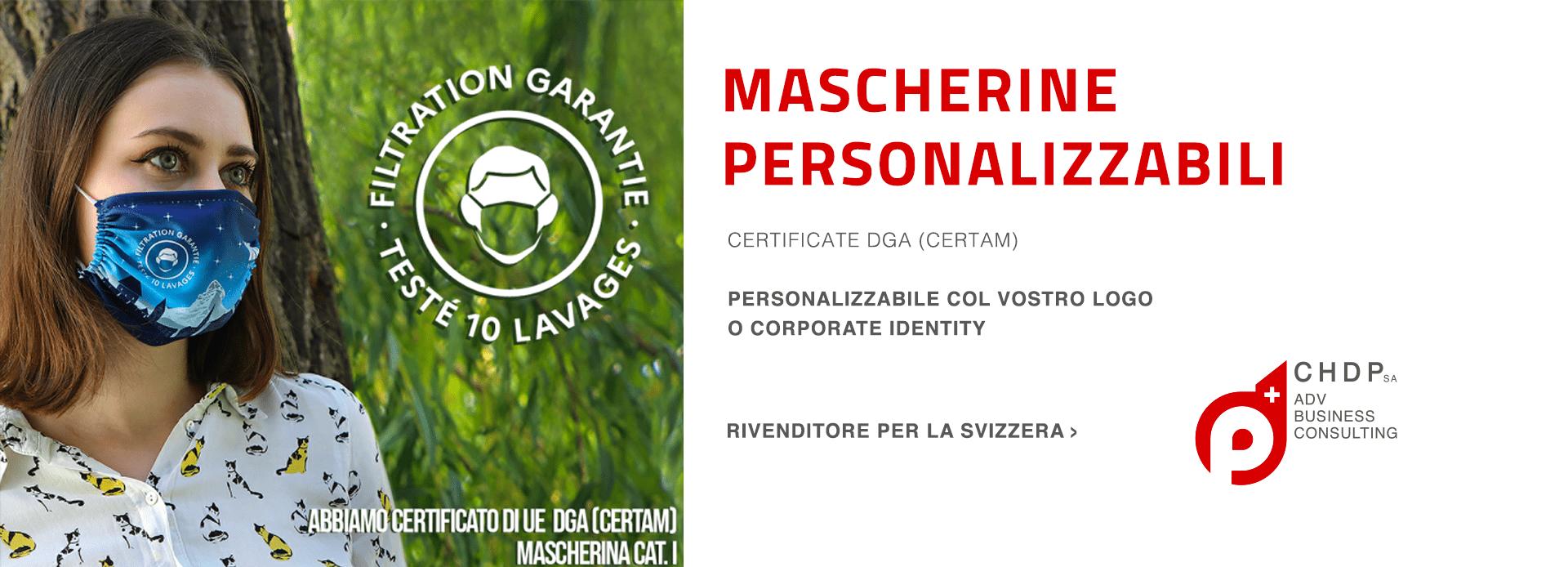 Mascherine personalizzabili per la tua azienda in Svizzera