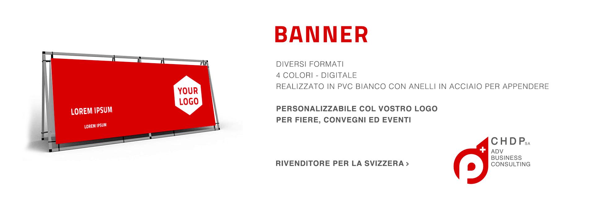 Banner in PVC personalizzabili per la tua azienda in Svizzera