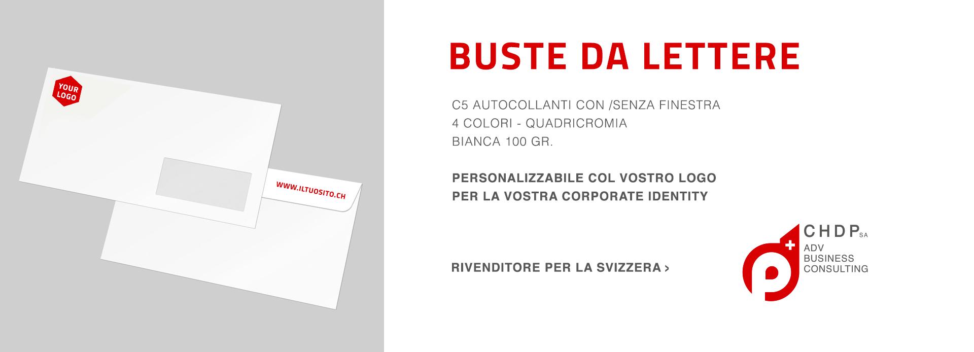 Buste da lettera personalizzabili per la tua azienda in Svizzera