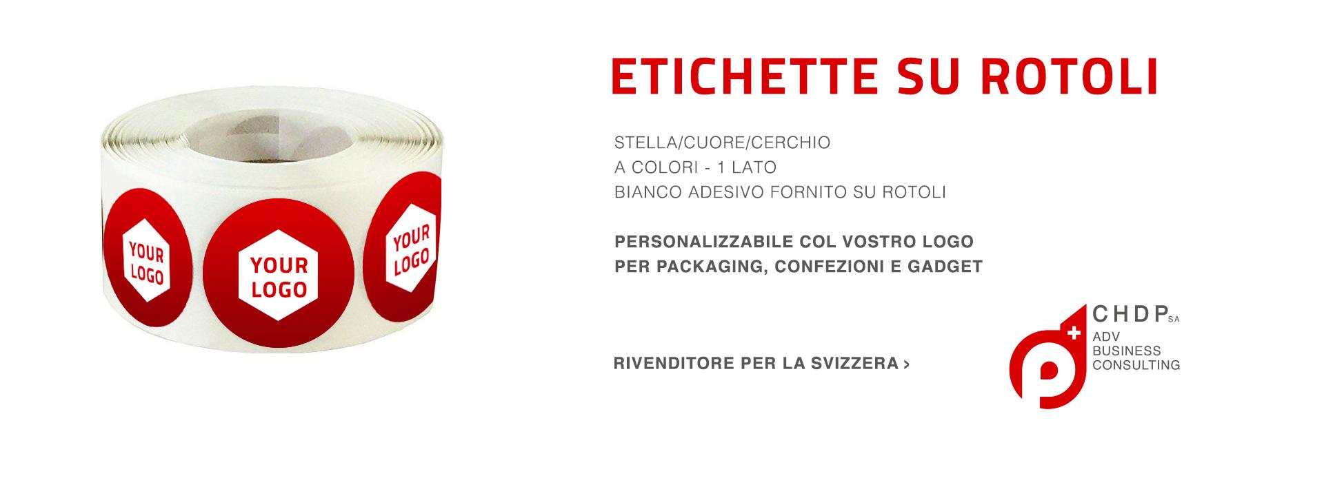 ETICHETTE SU ROTOLO  personalizzabili per la tua azienda in Svizzera
