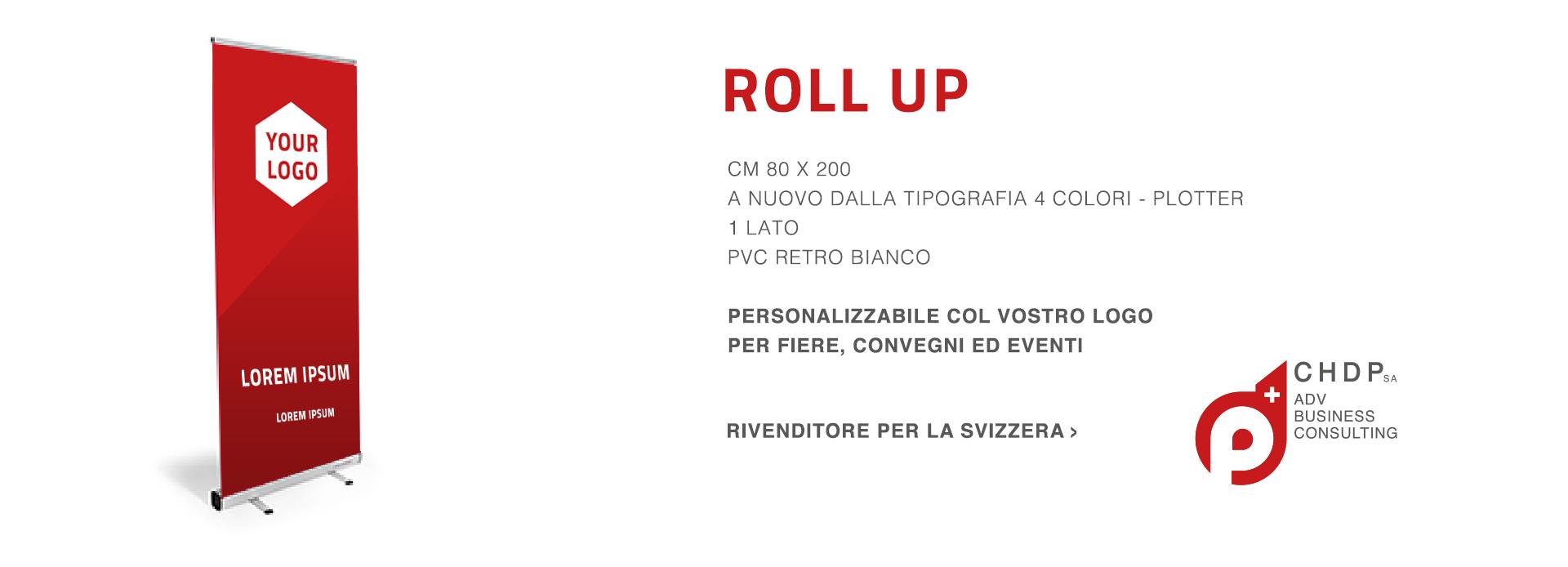 Roll Up personalizzabili per la tua azienda in Svizzera